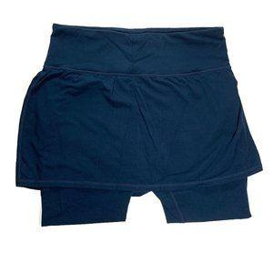 Athleta Meditation 2 in 1 Legging Skirt Blue Large